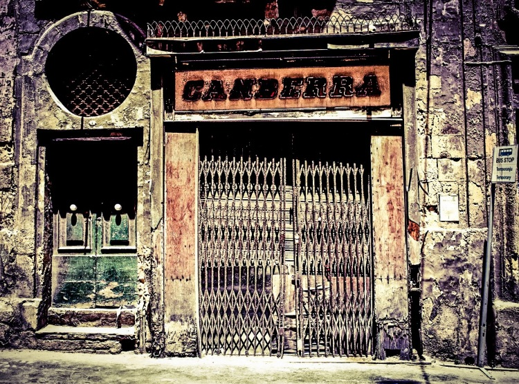 'Canberra' (no longer there) Vintage Shop Front- Valletta © Helen Jones-Florio