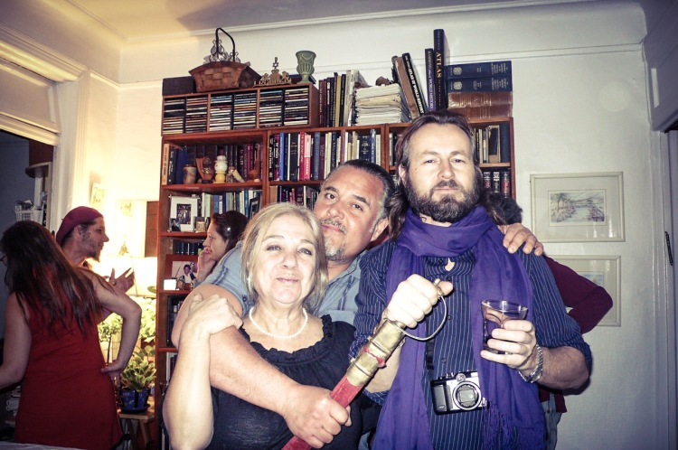 Cohen hospitality... we love this family, and their home. West 10th St, NYC L-R: Yaffa, Nachum, and Florio