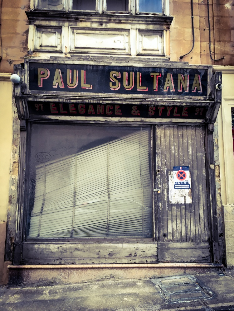 'Paul Sultana' Elegance and Style - closed down, storefront, Manwel Dimech St, Sliema, Malta ©Helen Jones-Florio