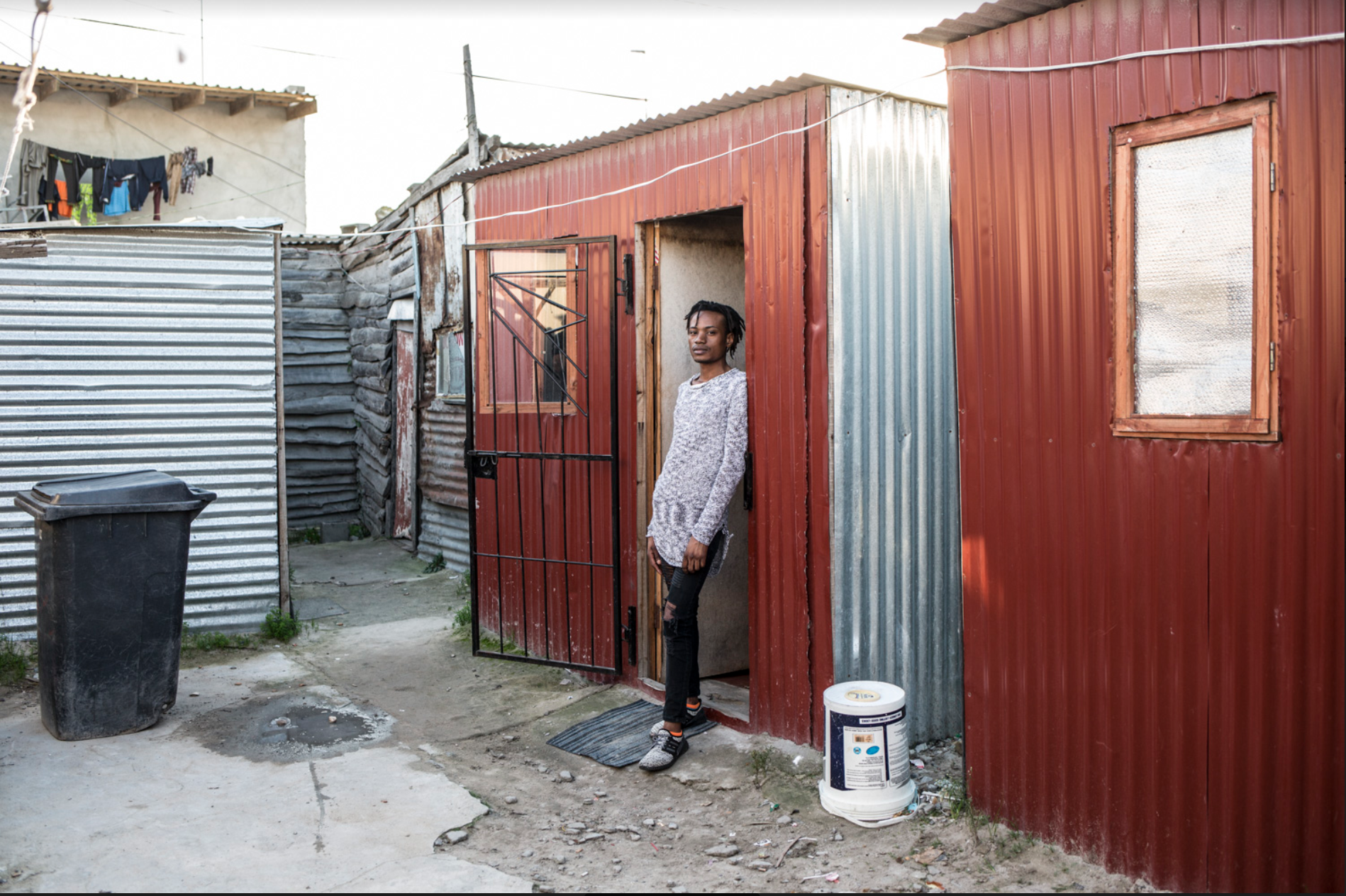 Prince January, at home in a township in South Africa - portrait © Jason Florio