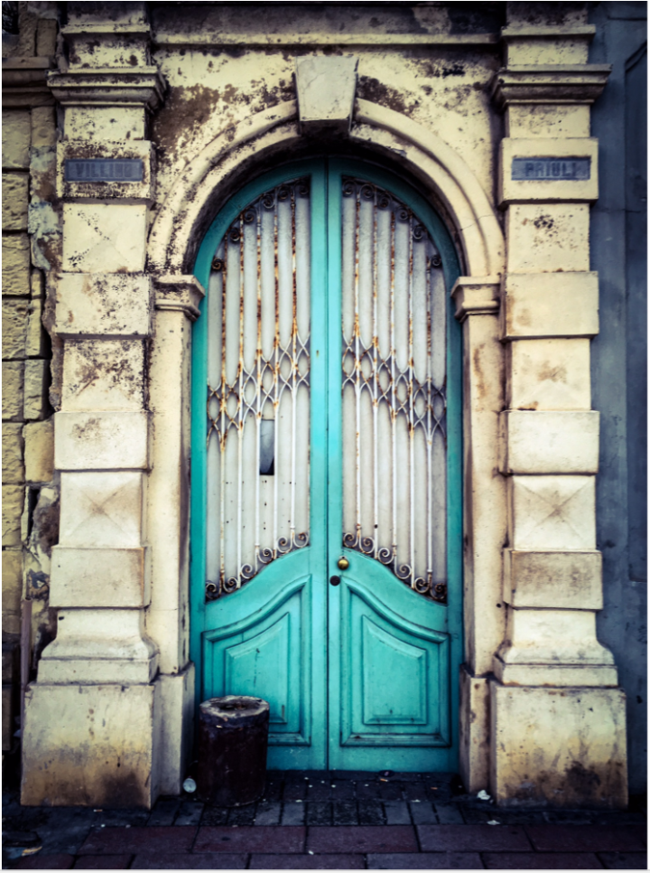 Turquoise door, Balluta Bay, St Julians, Malta ©Helen Jones-Florio