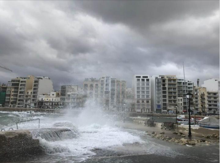 Stormy Mediterranean Sea, Spinola Bay, Malta ©Jason Florio