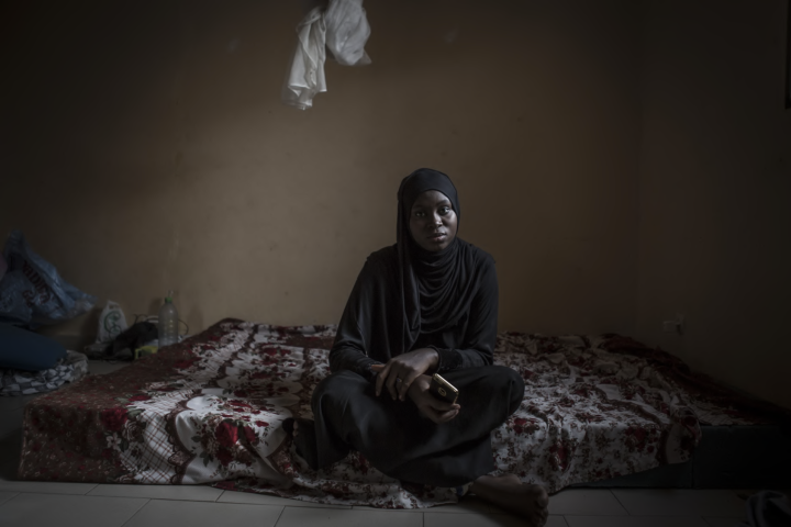 Portrait: Fatoumatta Sandeng, daughter of murdered Gambian opposition leader, Solo Sandeng. She escaped into exile to Senegal after her father's murder in 2016 - at the hands of Yahya Jammeh's security forces - fearful that she would be targeted next ©Jason Florio