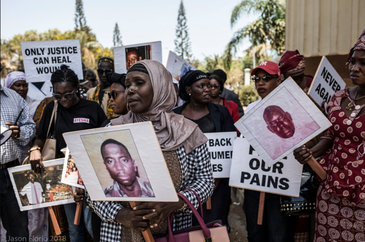 A peaceful vigil by families of victims of Yahya Jammeh's regime, to demand that the #Gambian government release the bodies of exhumed victims and to open a dialogue the families, #Banjul, The #Gambia ©Jason Florio