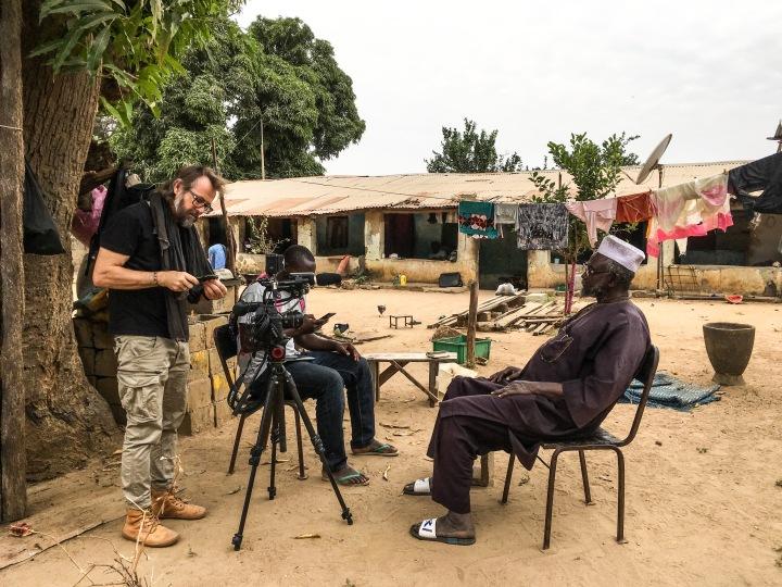 Jason Florio at work - making #Portraits4PositiveChange, #Gambia ©Helen Jones-Florio