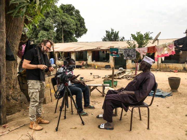 Jason Florio at work - making #Portraits4PositiveChange, #Gambia ©Helen Jones-Florio