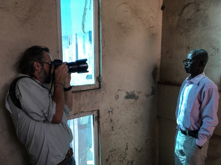 Jason Florio making #Portraits4PositiveChange, the Gambia ©Helen Jones-Florio.