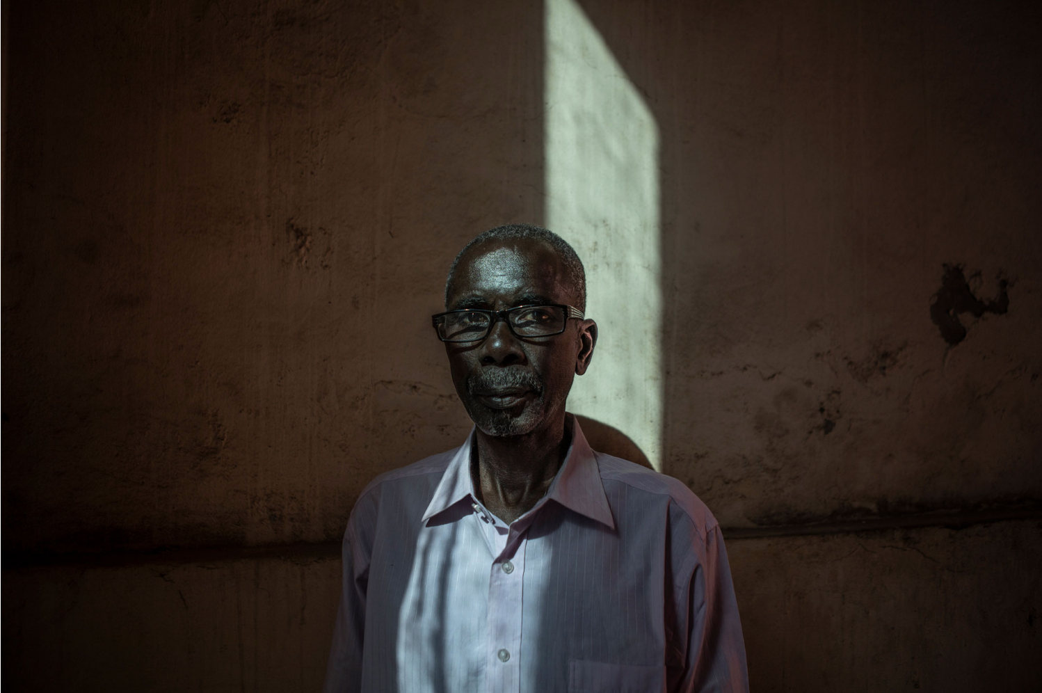 Lamin Ceesay - took part in Yahya Jammeh AIDS/HIV herbal 'cure' trials, the Gambia - portrait ©Jason Florio
