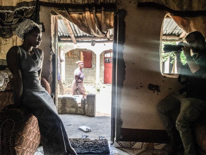 Photographer, Jason Florio, making #Portraits4PositiveChange, the Gambia, West Africa © Helen Jones-Florio