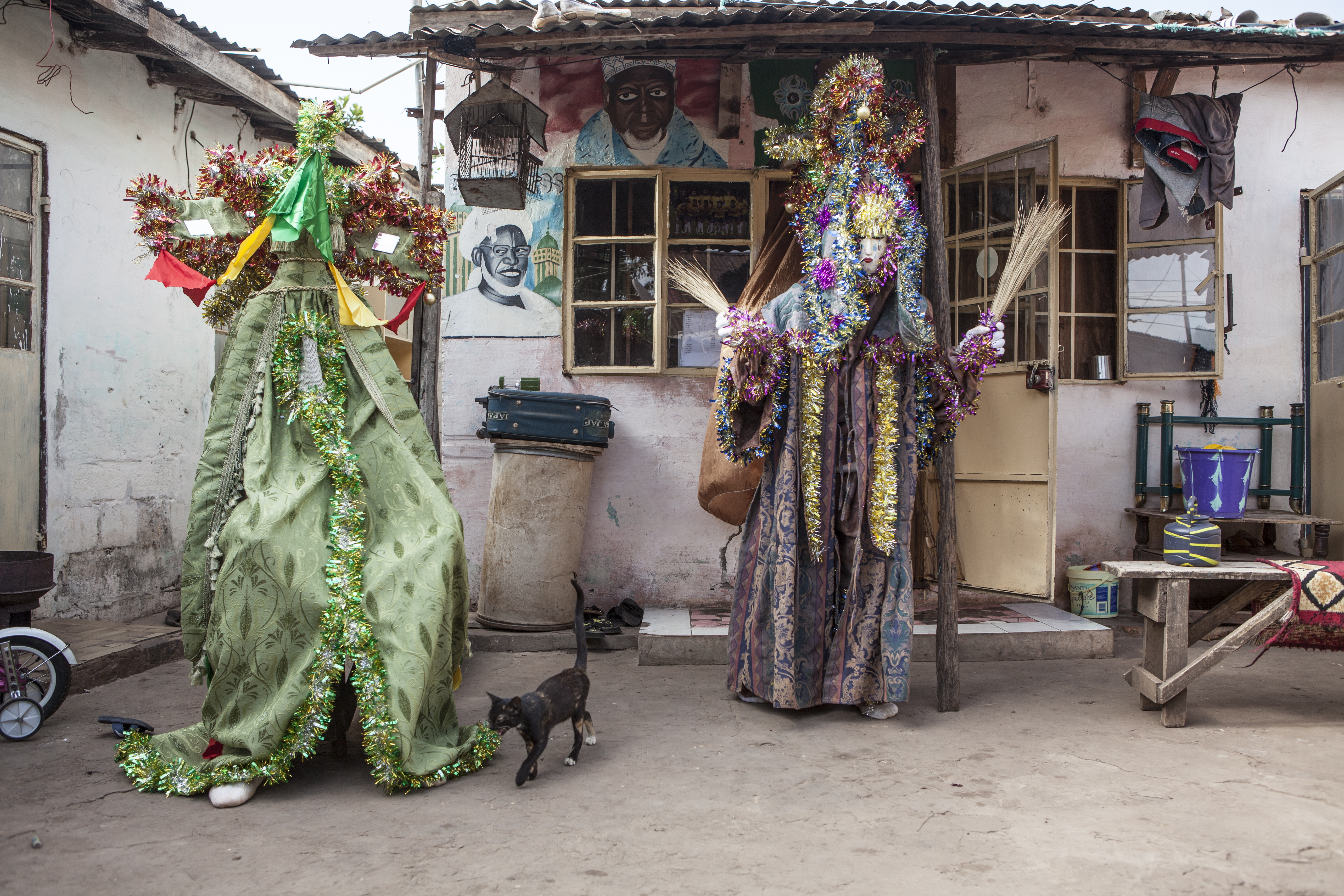 'Fairies' traditional masquerades, The Gambia, West Africa © Jason Florio photography