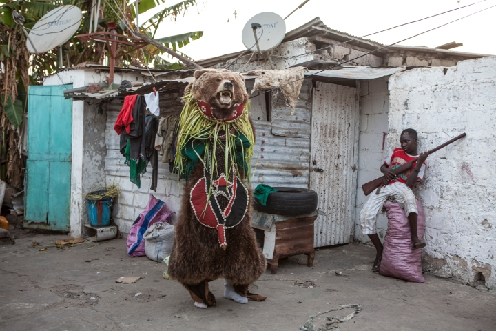 'The Hunting' traditional masquerades, The Gambia, West Africa © Jason Florio photography