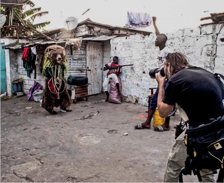 Jason Florio photographs 'The Hunting', traditional masquerades, Banjul, Gambia - Image © Helen Jones-Florio