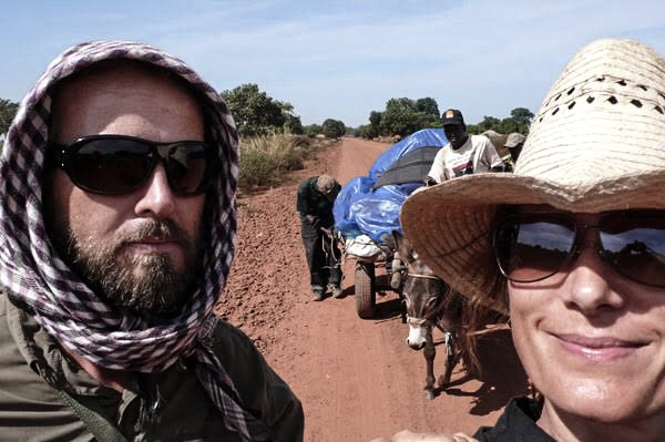 Photographers, Jason Florio & Helen Jones-Florio, The Gambia, West Africa selfie