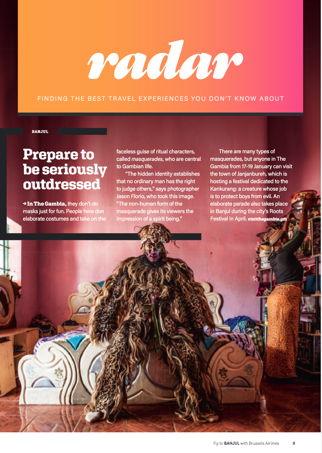 Media - The Zimba Masquerade, the Gambia, West Africa © Jason Florio for Brussels Airlines inflight magazine
