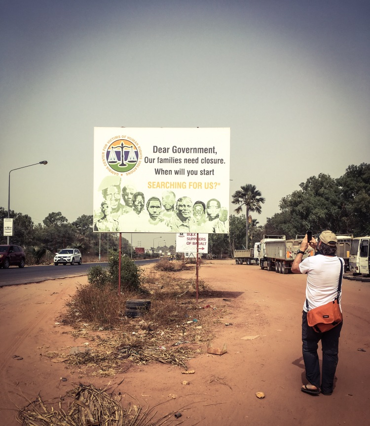 Gambia Victims Centre billboard, The Gambia, West Africa ©Helen Jones-Florio, with Jason Florio