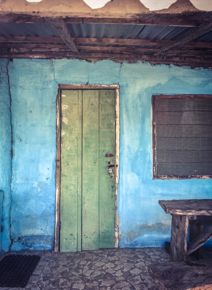 Green door, Kartong, The Gambia, West Africa © Helen Jones-Florio - from #GambiaDoors & #StoriesBehindDoors