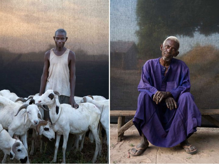 Gambian village chief and his brother - portraits ©Jason Florio
