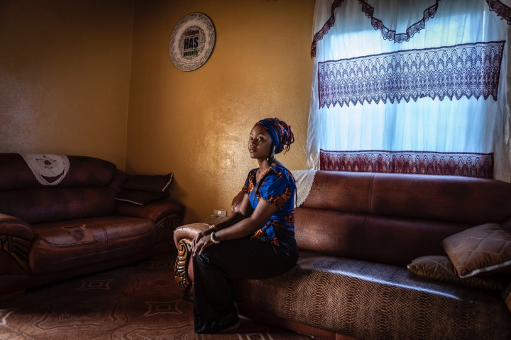 Fatou 'Toufah' Jallow - the first woman to speak in public, without hiding her identity, about her rape ordeal with former Gambian president, Yahya Jammeh, at her parents home in The Gambia. Portrait ©Jason Florio/Helen Jones-Florio #Portraits4PositiveChange