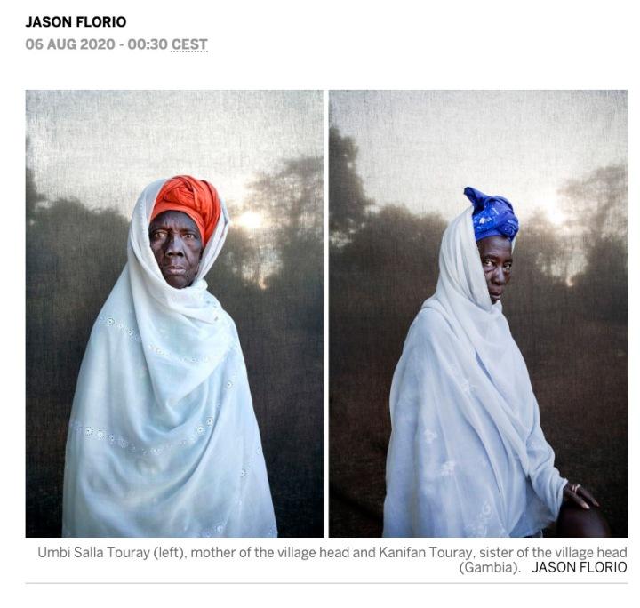 PRESS: El Pais 'Tribal Royalty' (4/6) - portraits by Jason Florio of Gambian chiefs (alkalos) and elders