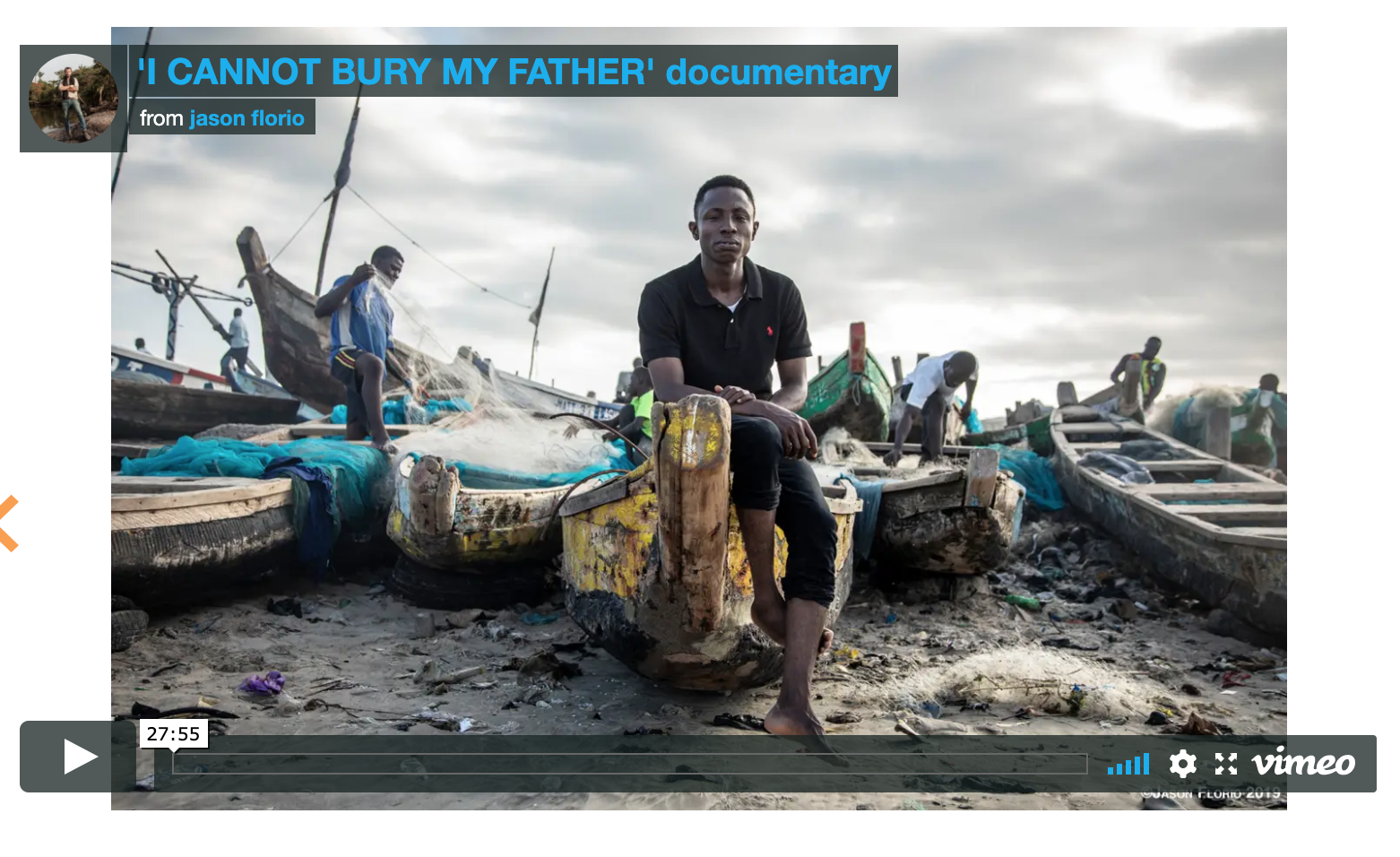 'I Cannot Bury My Father' Ghanaian massacre in The Gambia. Director of Photography - Jason Florio