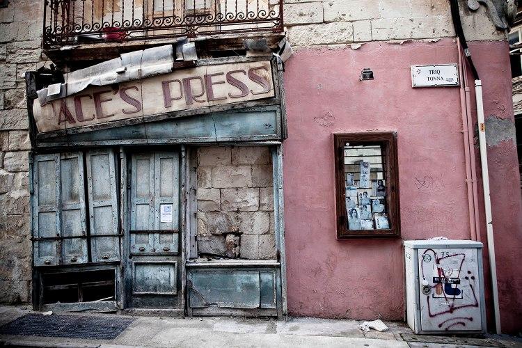 Doors & Storefronts of Malta 'Paces Press', Sliema, Malta ©Helen Jones-Florio from the Disappearing Malta series