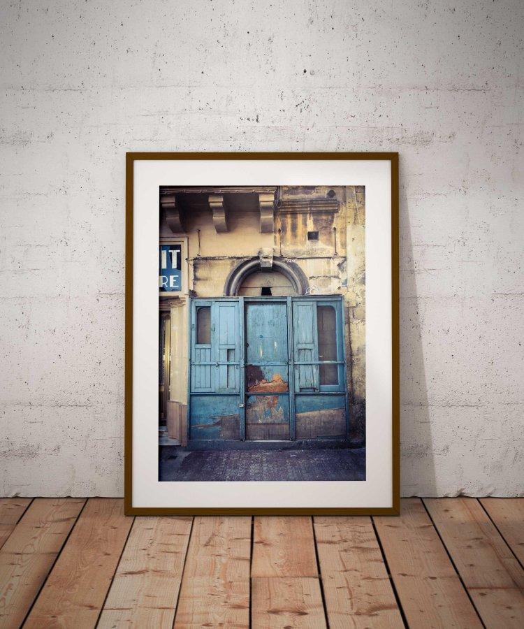 Doors & Storefronts 'Got the Blues', Hamrun, Malta ©Helen Jones-Florio from the Disappearing Malta series