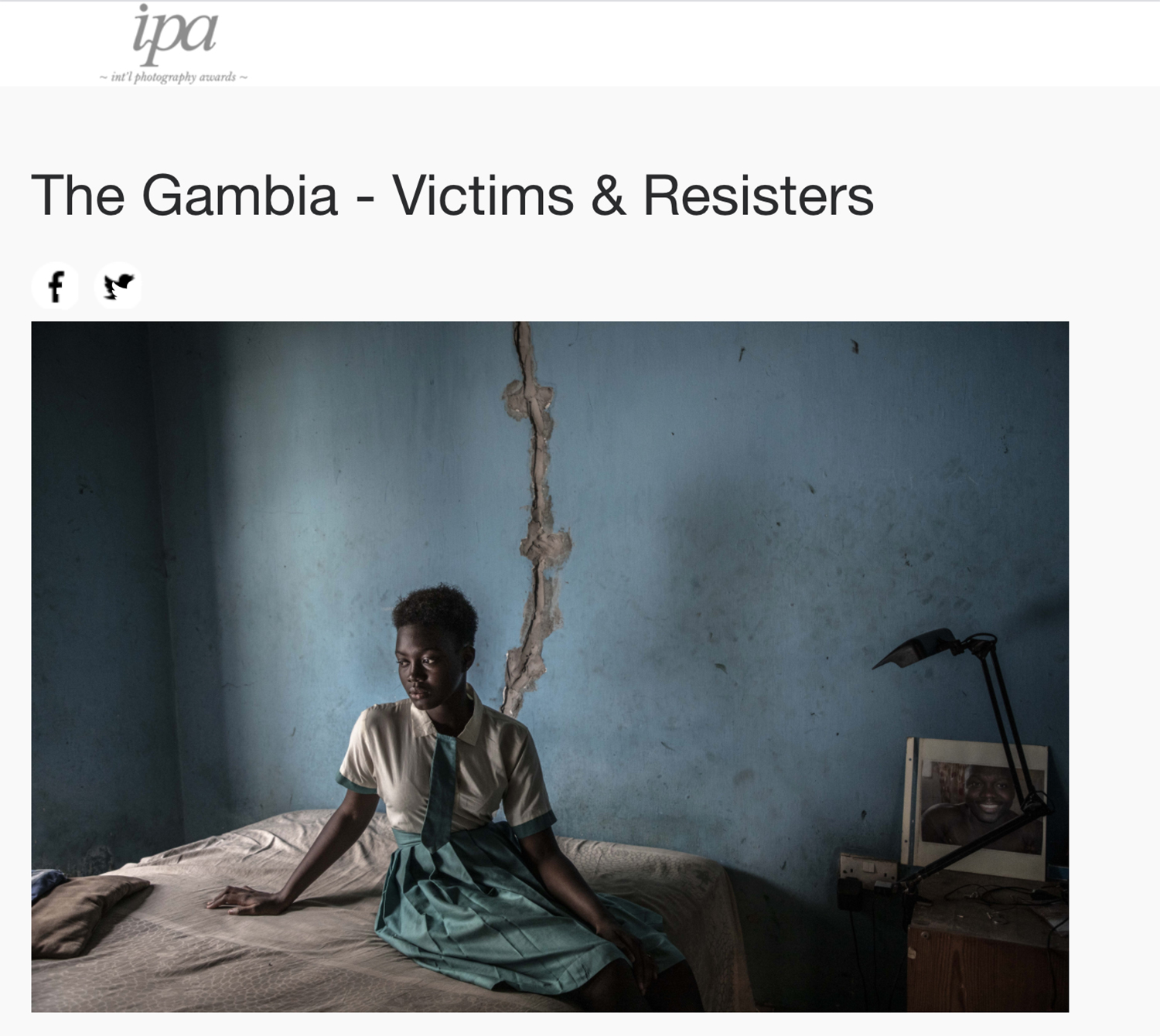 International Photography Awards – Honorable Mention: 'The Gambia – victims, and resisters' by Jason Florio and Helen Jones-Florio