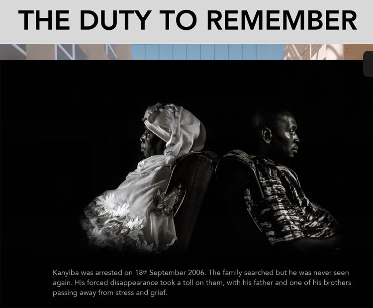 Exhibition: The Duty to Remember - Human Rights Week, Geneva, November 2020. Black and white portrait ©Muhammed Bittaye